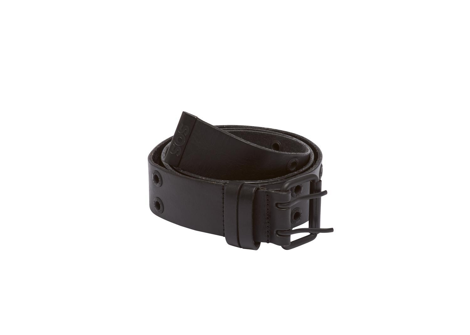 UNI RIVET LEATHER BELT black