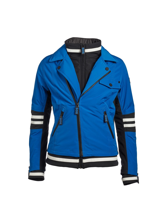 SOS Sportswear of Sweden Damen Skijacke Doll Jacket Racing Blue