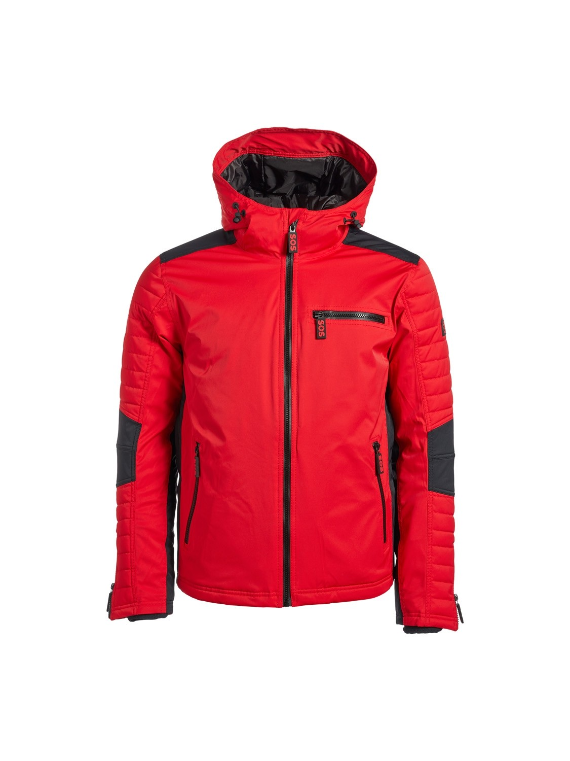 SOS Sportswear of Sweden Herren Skijacke Dominator Jacket Racing Red