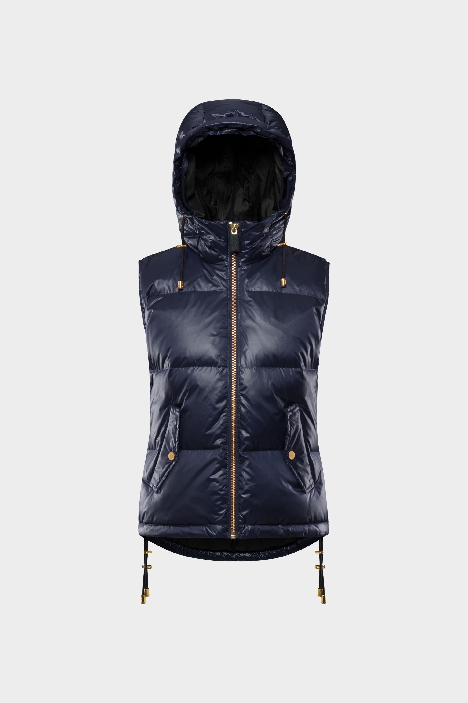 SOS Sportswear of Sweden Women Rose Down Vest Dark Blue