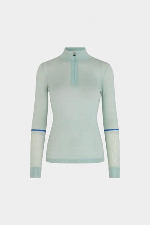 SOS Sportswear of Sweden Damen Skipulli SAGA Knit - Silt Green