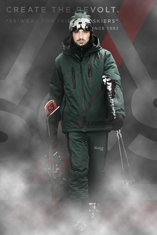 SOS Sportswear of Sweden Men Triangle Jacket Green Pine