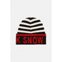 SOS Sportswear of Sweden UNI Luca Knit Hat Black White Red