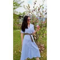 Blusenkleid Rose von Alpenherz - Hellblau