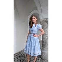 Julia Trentini Dirndlkleid Emilie hellblau weiß