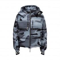 Jet Set Herren Skijacke Print Grey-Black Camouflage