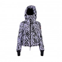 Jet Set Damen Skijacke Julia Tiger Print Thistle