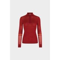 SOS Sportswear of Sweden Damen Skipulli SAGA Knit - Garnet Red